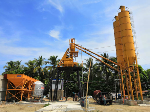 Aimix HZS35 concrete plant set up in the Philippines 1