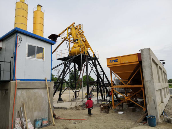 Aimix HZS35 concrete plant set up in the Philippines 2