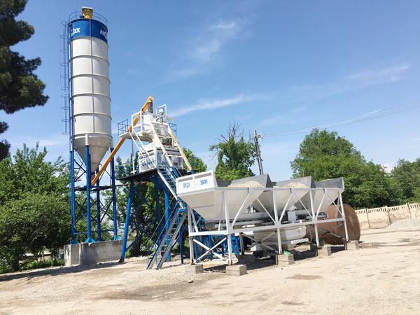 Aimix HZS50 concrete plant set up in Tajikistan 4
