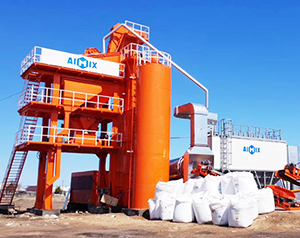 Aimix LB1000 Asphalt Mixing Plant Was Set up in in kyrgyzstan In January, 2018