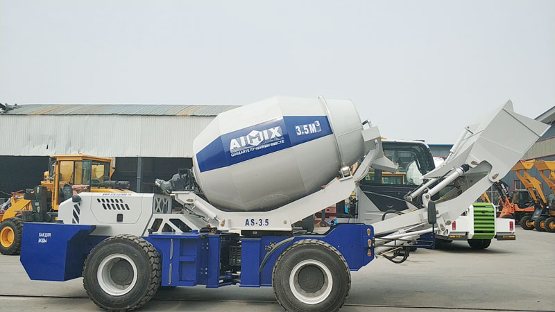 Aimix self loading concrete mixer send to Uzbekistan 1