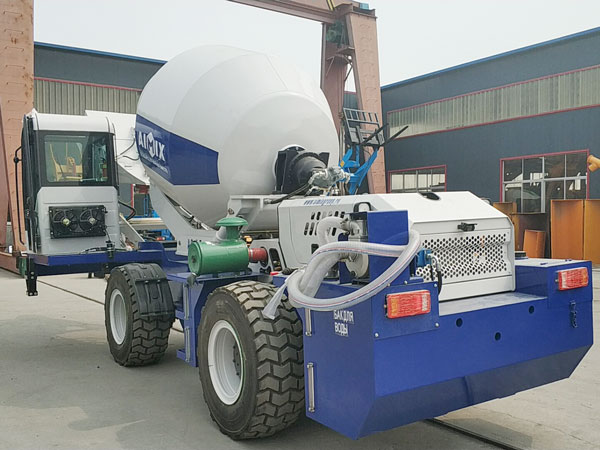 Aimix self loading concrete mixer send to Uzbekistan 2
