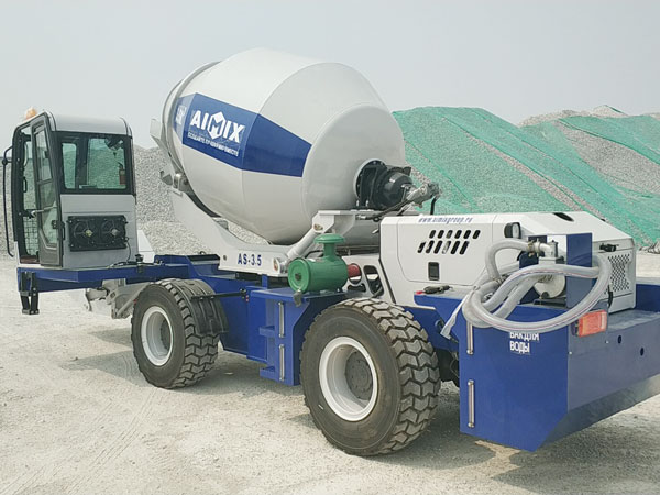 Aimix self loading concrete mixer send to Uzbekistan 3