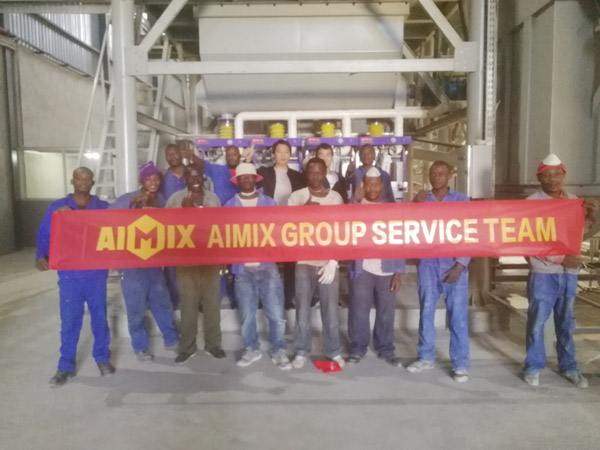 Aimix dry mortar plant set up in Zambia 5