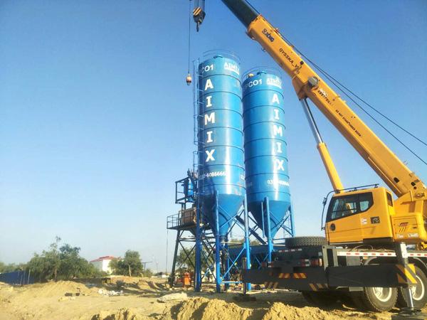 Aimix cement silo in Pakistan 3