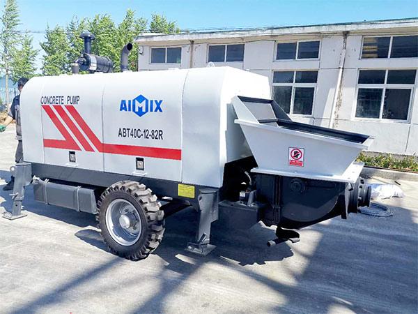 AIMIX ABT40C diesel concrete pump sent to Philippines 2