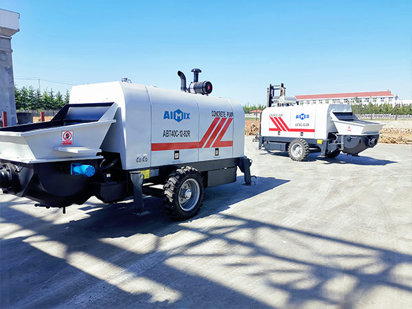 AIMIX ABT40C diesel concrete pump sent to Philippines 3
