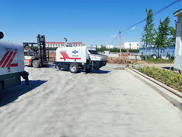 AIMIX ABT40C diesel concrete pump sent to Philippines 4