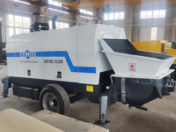 Aimix diesel concrete pump in Ukraine