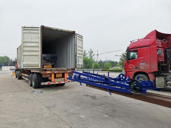 AIMIX concrete block machine sent to Honduras 3