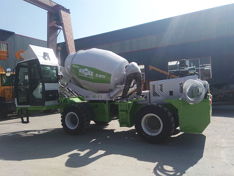 AIMIX AS2.6 self loading concrete mixer to the Philippines