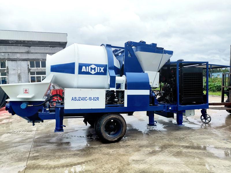 40CBM diesel concrete mixer pump sent to Philippines