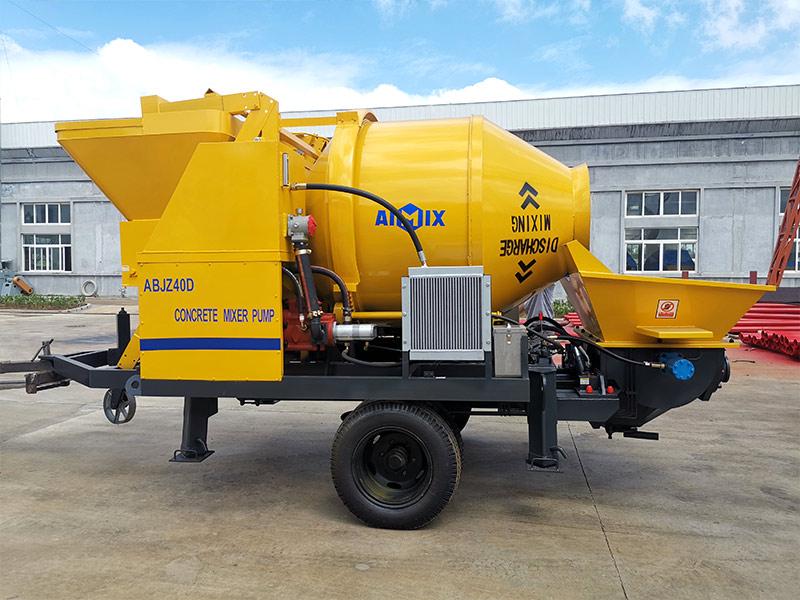 AIMIX 40 concrete mixer pump sent to Indonesia