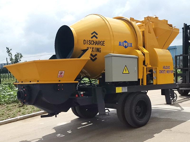 AIMIX concrete mixer pump sent to Indonesia