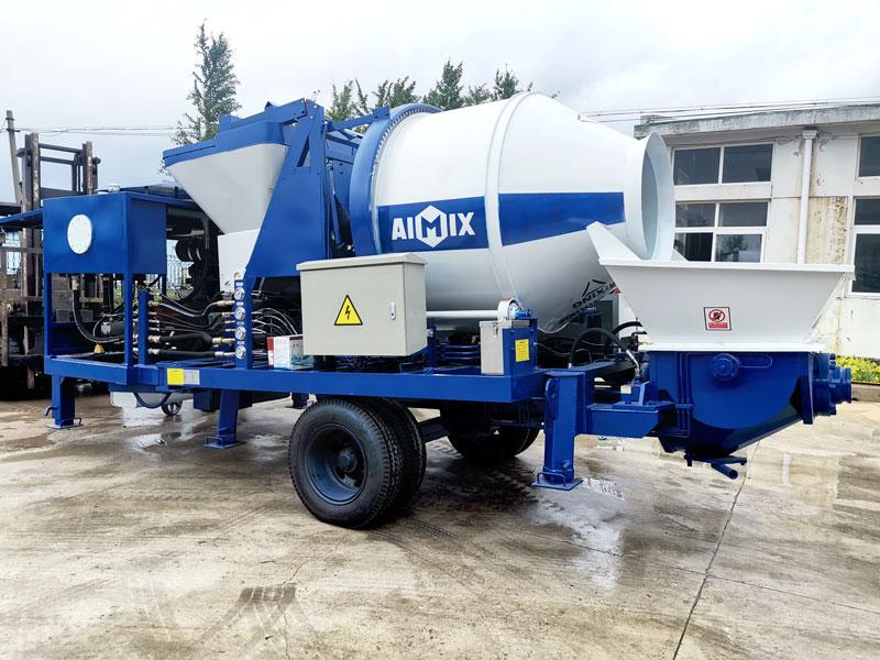 diesel concrete mixer pump sent to Philippines