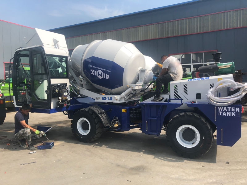 AS1.8 self loading concrete mixer to the Philippines