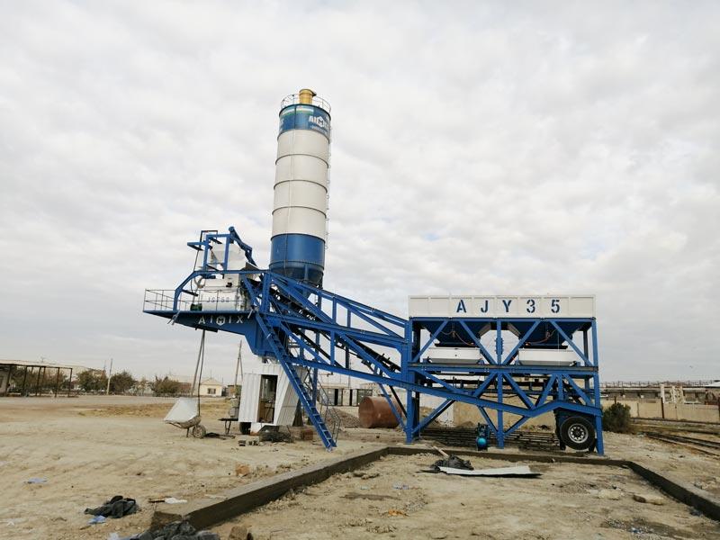 35 mobile batching plant in Uzbekistan