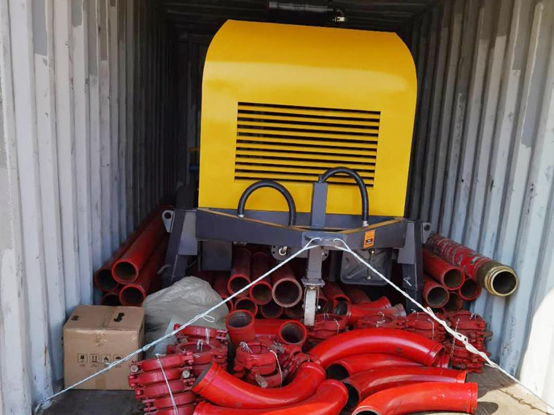 AIMIX ABT40C diesel concrete pump sent to the Philippines