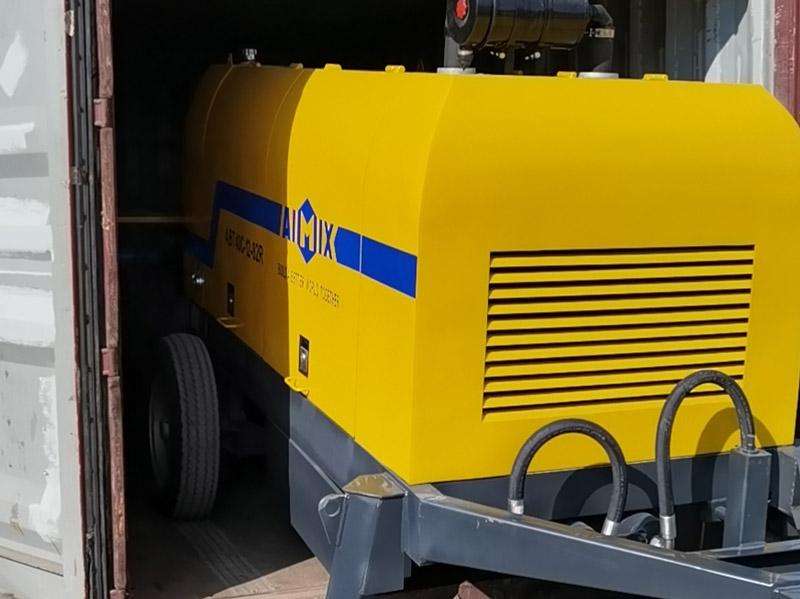 AIMIX ABT40C diesel concrete pump to the Philippines