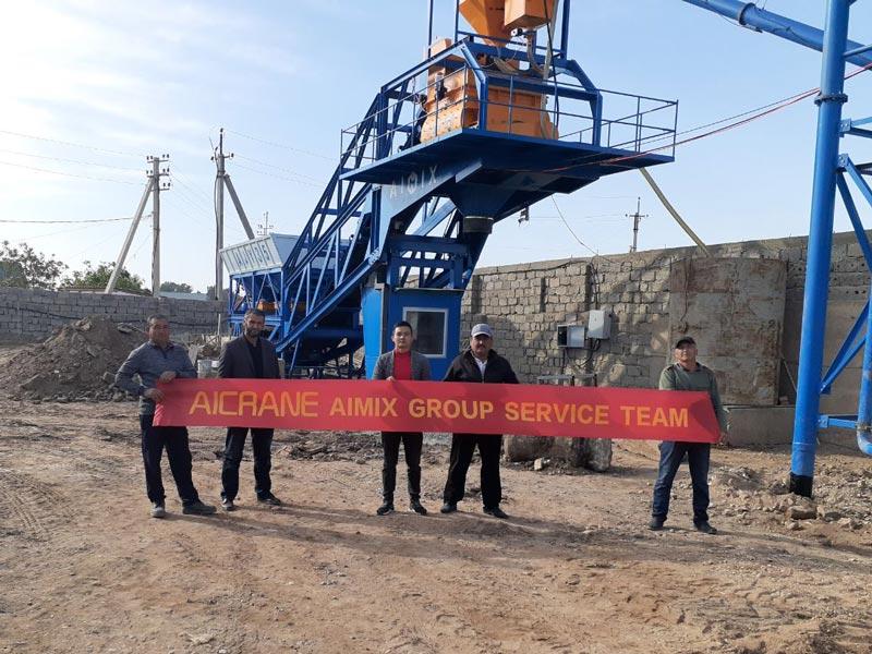 AIMIX batching plant in Uzbekistan