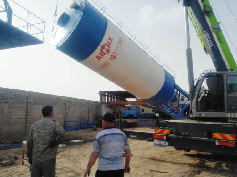 mobile batching plant installation